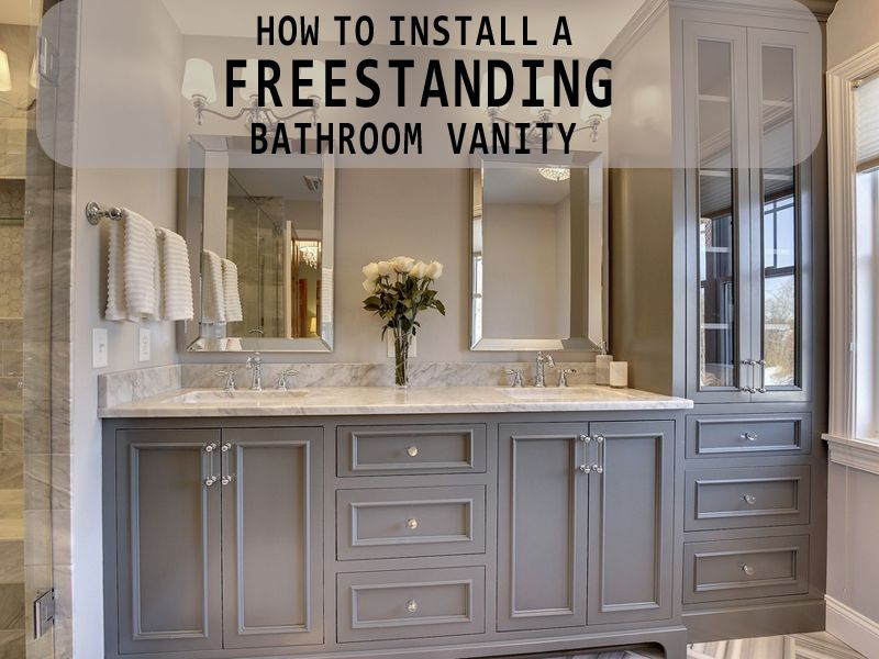 How to install a new bathroom vanity luxdream - How to install a bathroom vanity ...