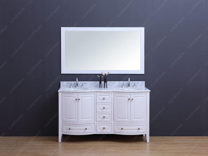 60 Inch Curved Bathroom Vanity ...