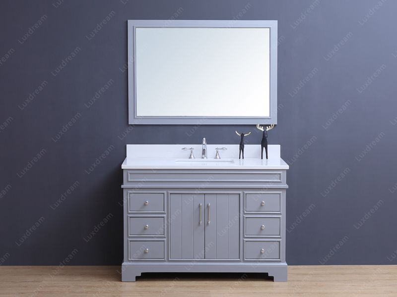New Traditional Bathroom Vanity In May Luxdream Bathroom - 48 inch grey bathroom vanity
